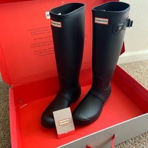 Hunter Rain Boots Women Original Tall black sz 8